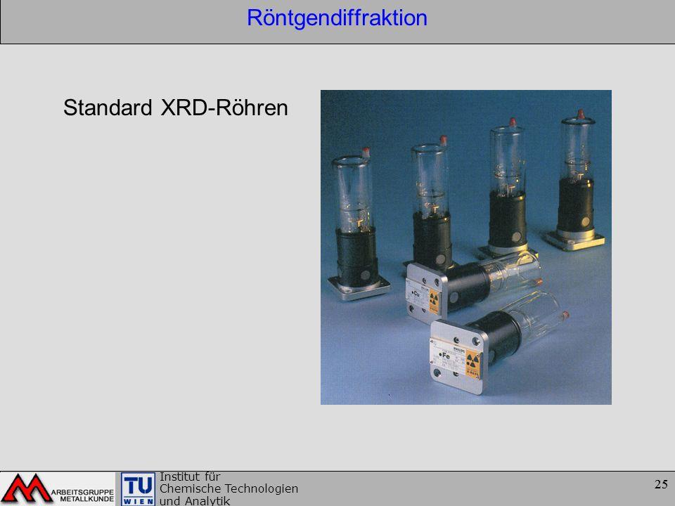 Röntgendiffraktion Standard XRD-Röhren