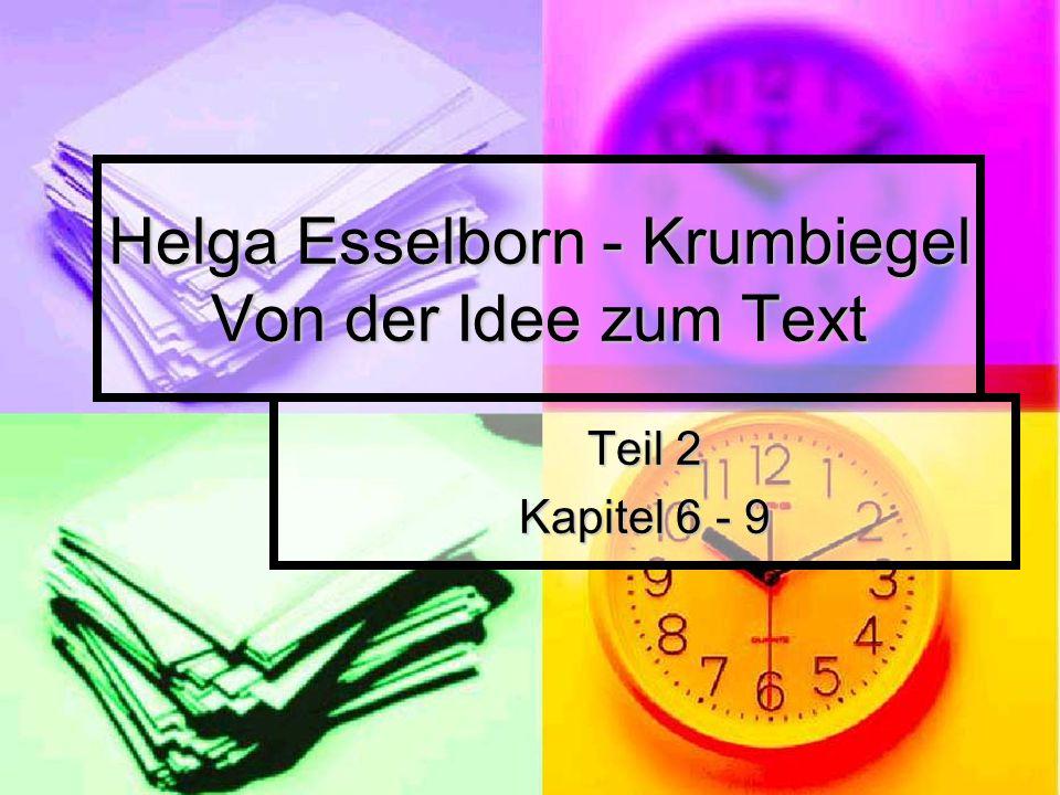 Helga Esselborn - Krumbiegel Von der Idee zum Text