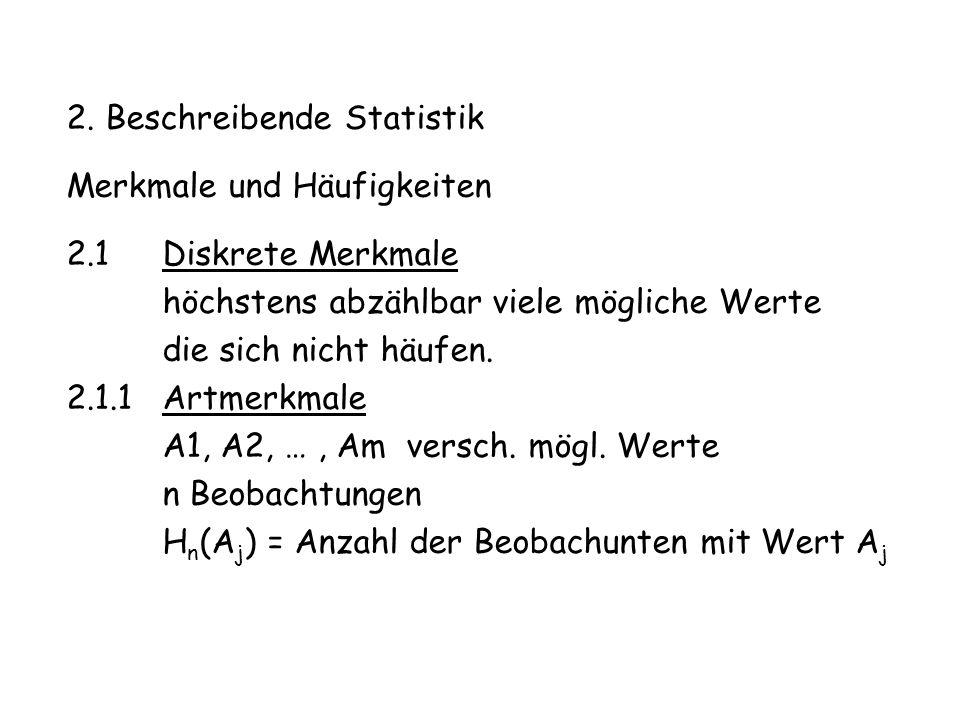 2. Beschreibende Statistik