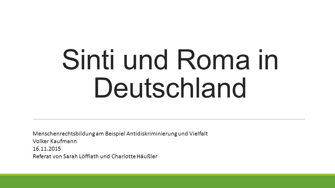 Sinti und Roma in Deutschland