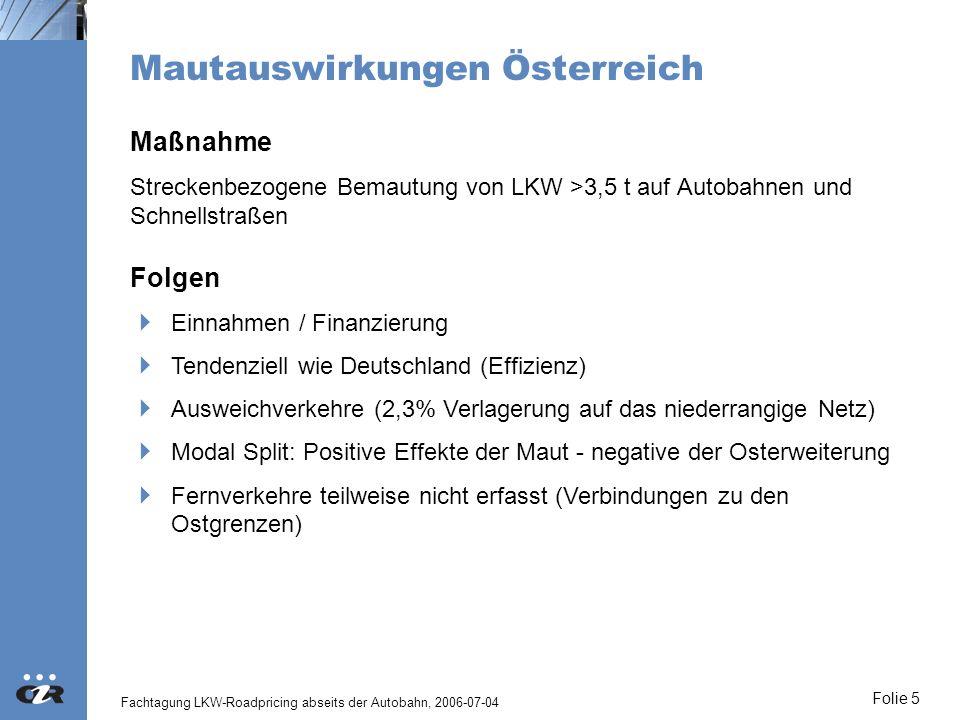 Mautauswirkungen Österreich