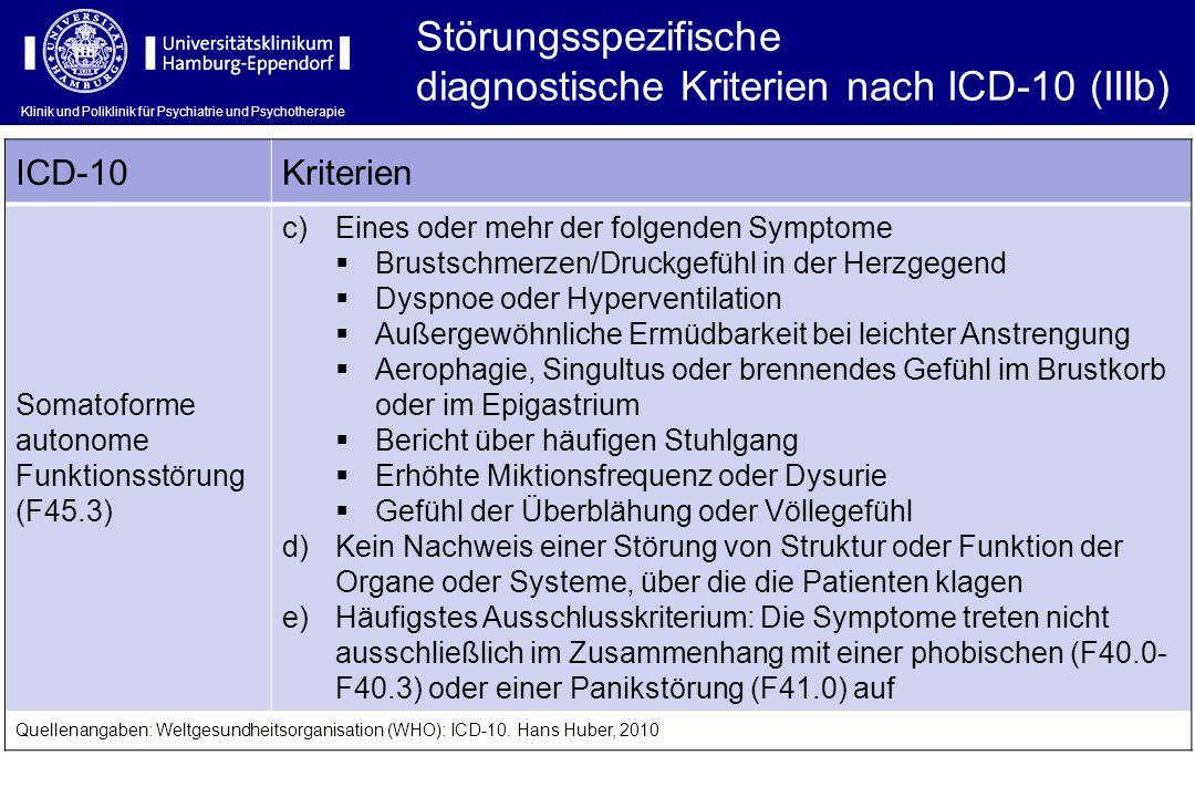 diagnostische Kriterien nach ICD-10 (IIIb)