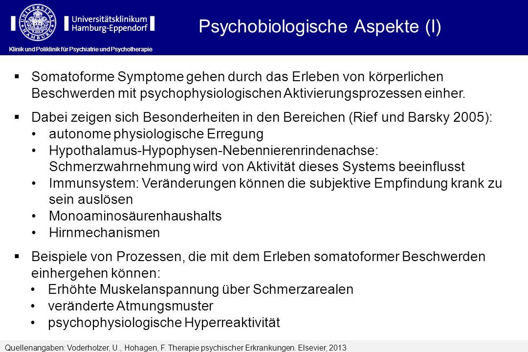 Psychobiologische Aspekte (I)