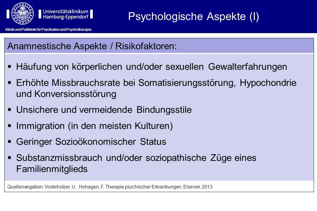 Psychologische Aspekte (I)
