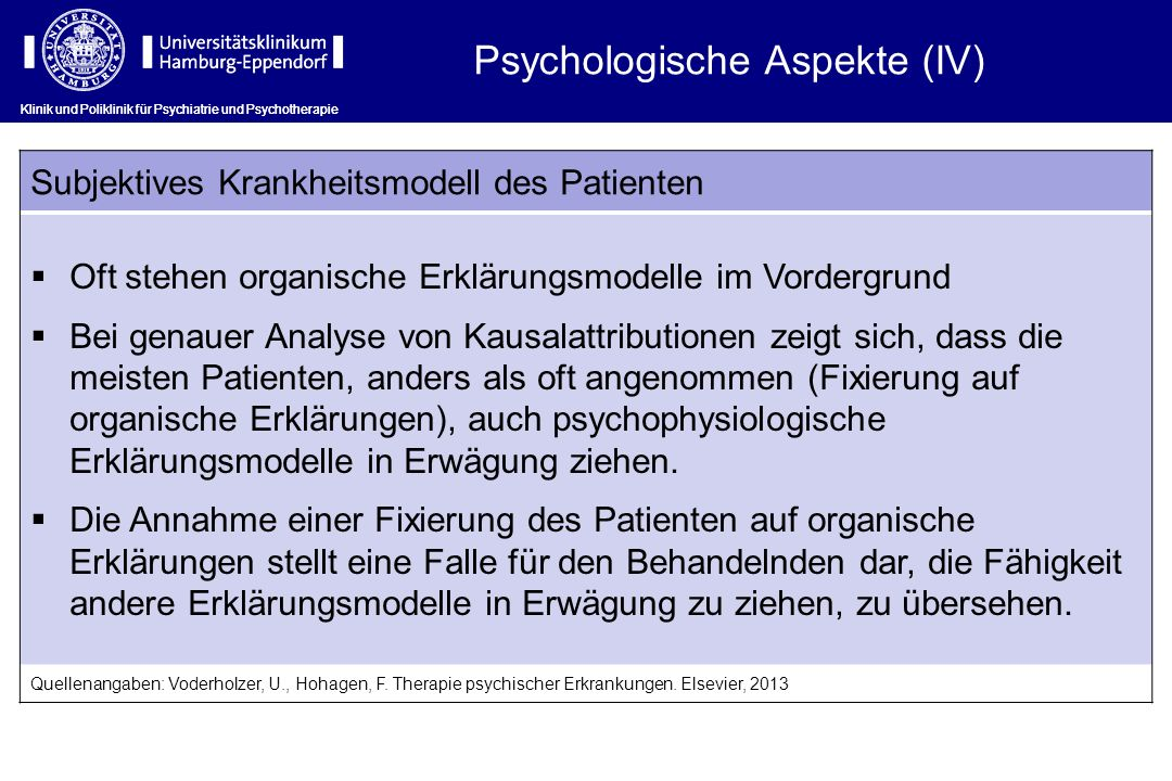 Psychologische Aspekte (IV)