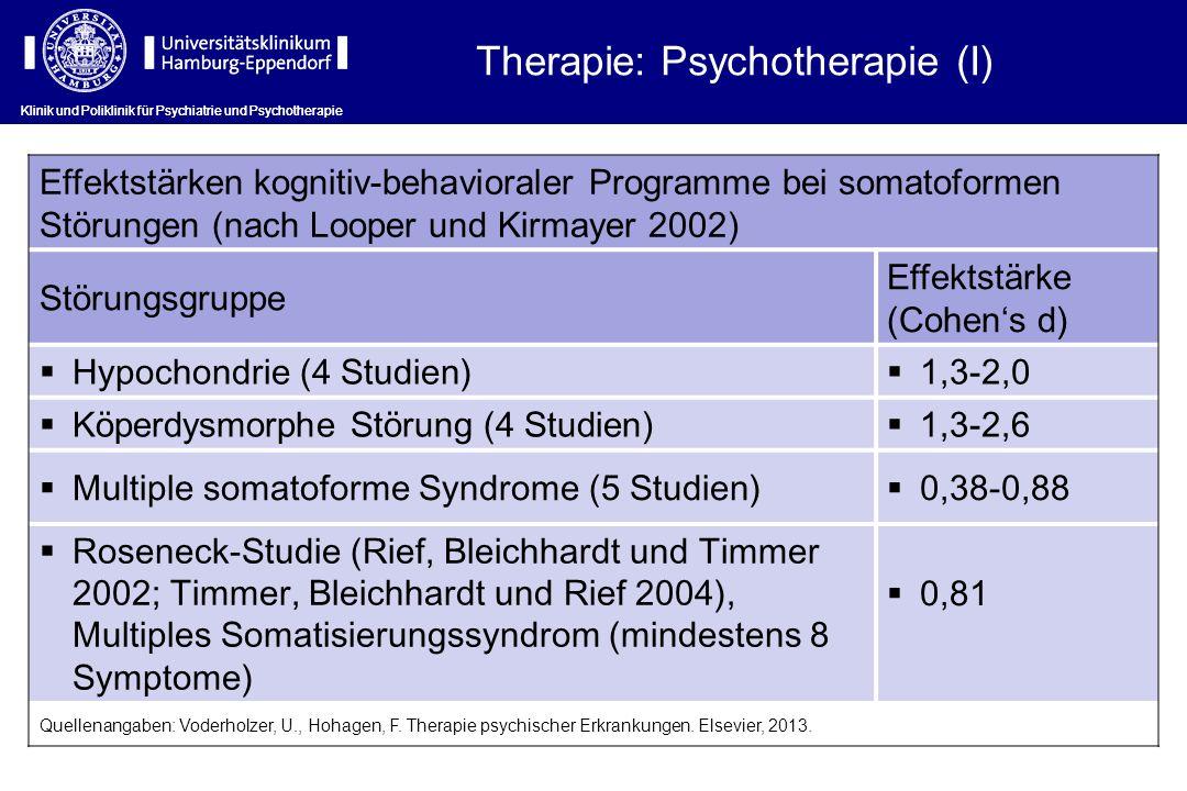 Therapie: Psychotherapie (I)