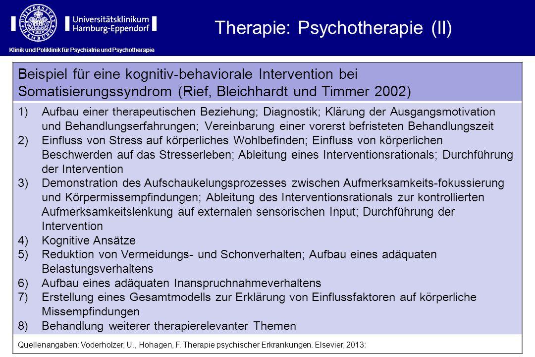 Therapie: Psychotherapie (II)