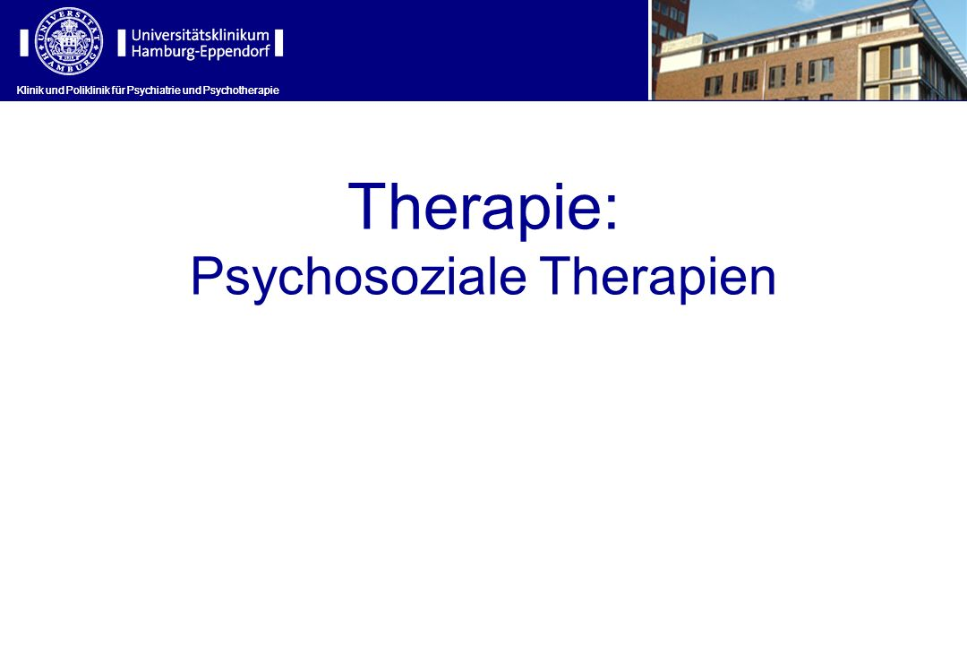 Psychosoziale Therapien