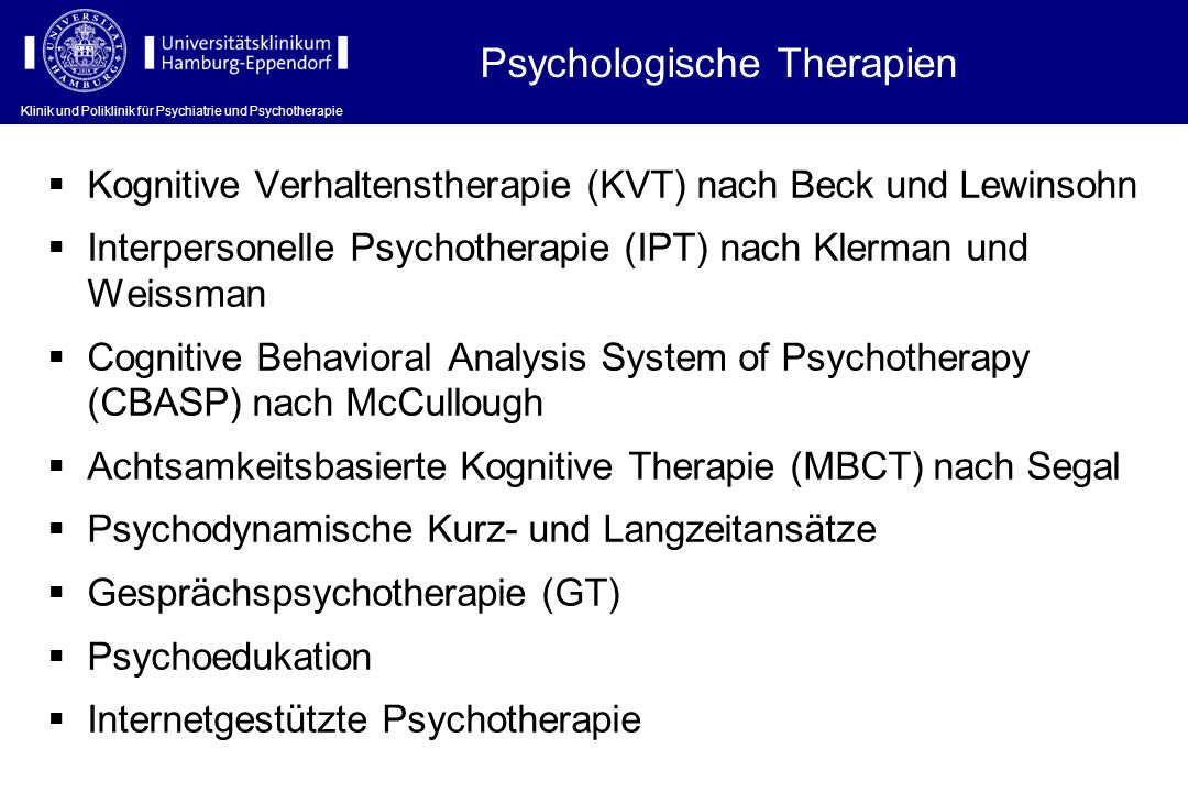Psychologische Therapien