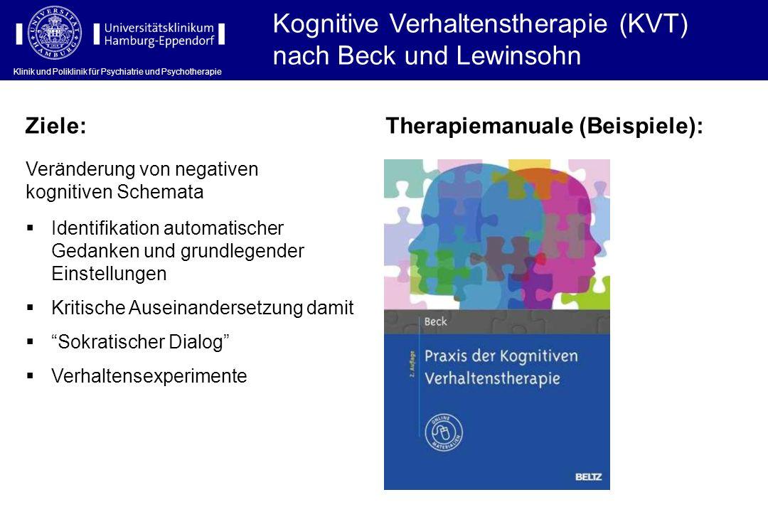 Kognitive Verhaltenstherapie (KVT) nach Beck und Lewinsohn
