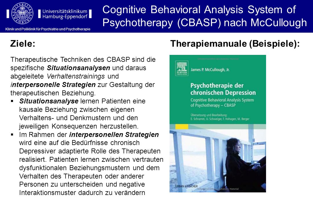 Cognitive Behavioral Analysis System of Psychotherapy (CBASP) nach McCullough