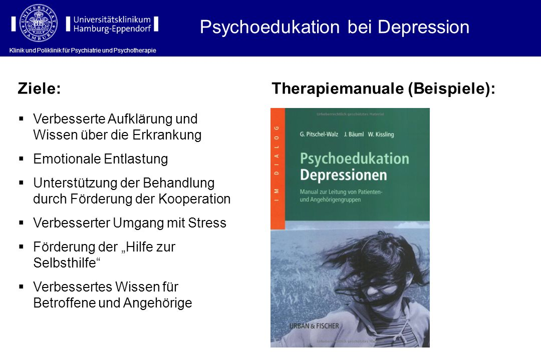 Psychoedukation bei Depression