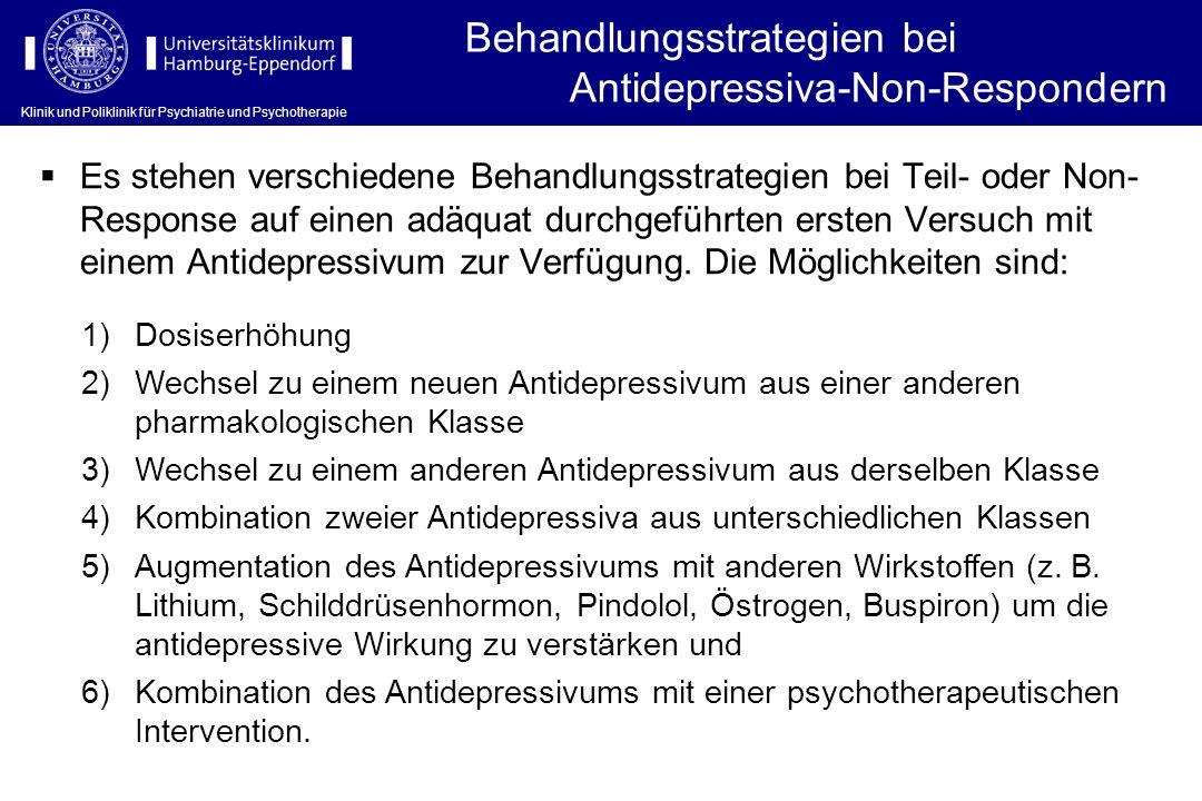 Behandlungsstrategien bei Antidepressiva-Non-Respondern