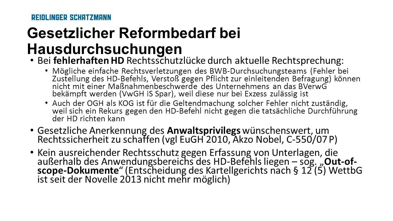 Gesetzlicher Reformbedarf bei Hausdurchsuchungen