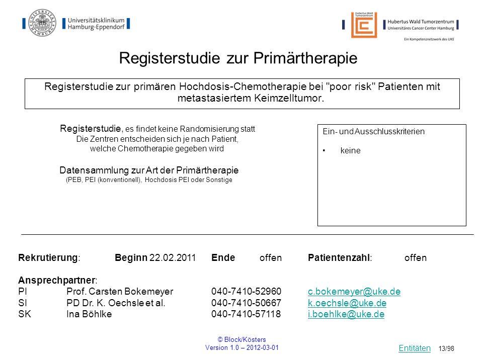Registerstudie zur Primärtherapie