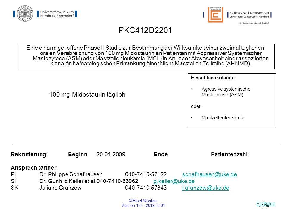 PKC412D2201 100 mg Midostaurin täglich
