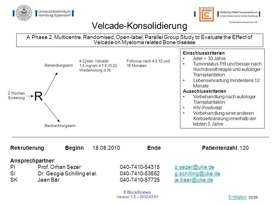 Velcade-Konsolidierung