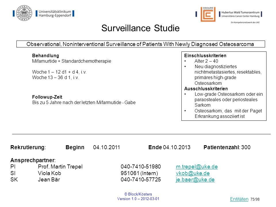 Surveillance StudieObservational, Noninterventional Surveillance of Patients With Newly Diagnosed Osteosarcoma.