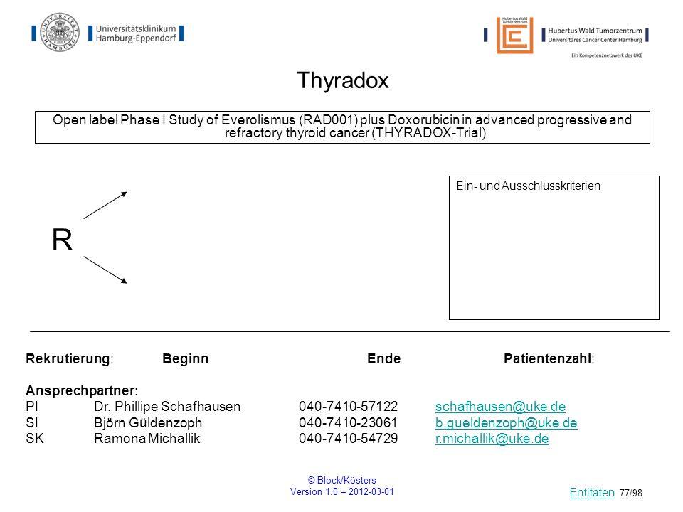 ThyradoxOpen label Phase I Study of Everolismus (RAD001) plus Doxorubicin in advanced progressive and refractory thyroid cancer (THYRADOX-Trial)
