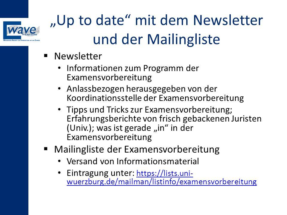 """""""Up to date mit dem Newsletter und der Mailingliste"""