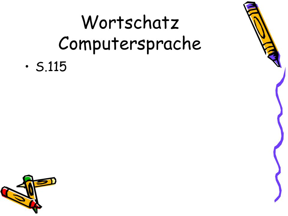 Wortschatz Computersprache