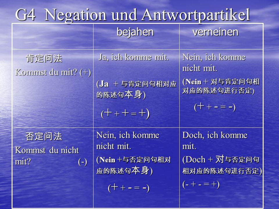 G4 Negation und Antwortpartikel