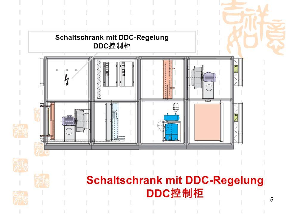 Schaltschrank mit DDC-Regelung DDC控制柜