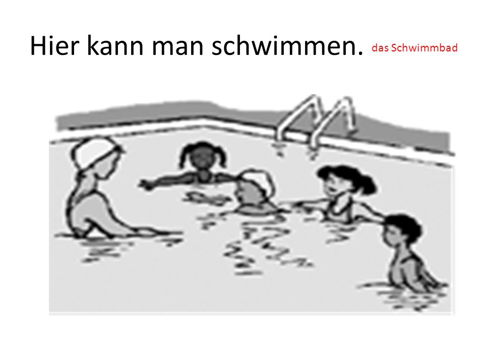 Hier kann man schwimmen.