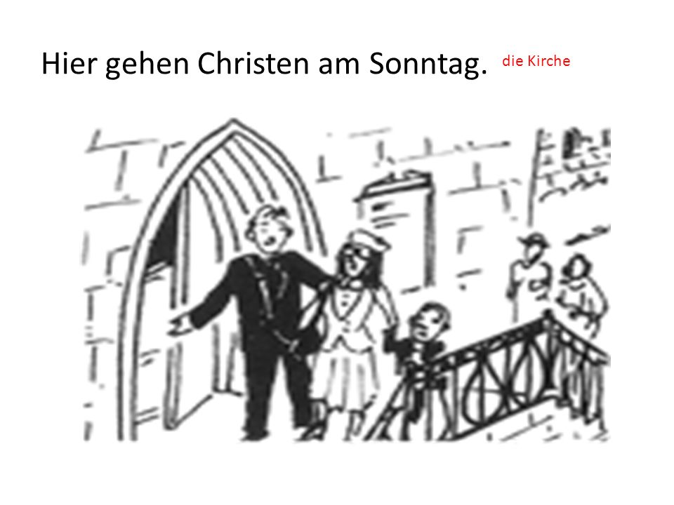Hier gehen Christen am Sonntag.