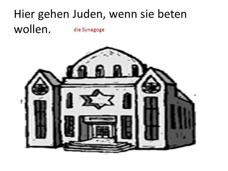 Hier gehen Juden, wenn sie beten wollen.