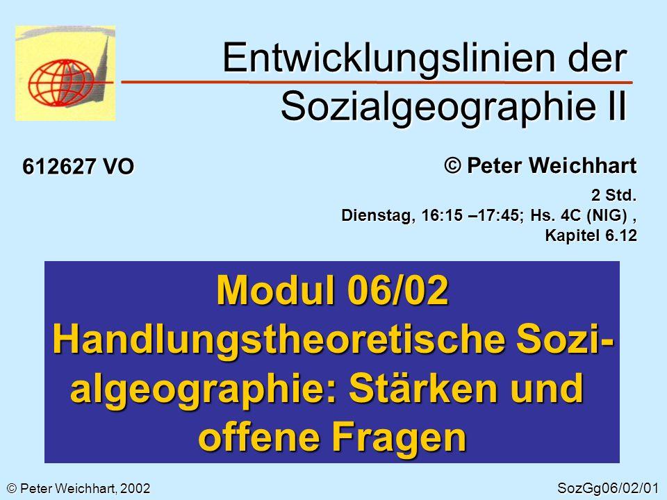 Entwicklungslinien der Sozialgeographie II