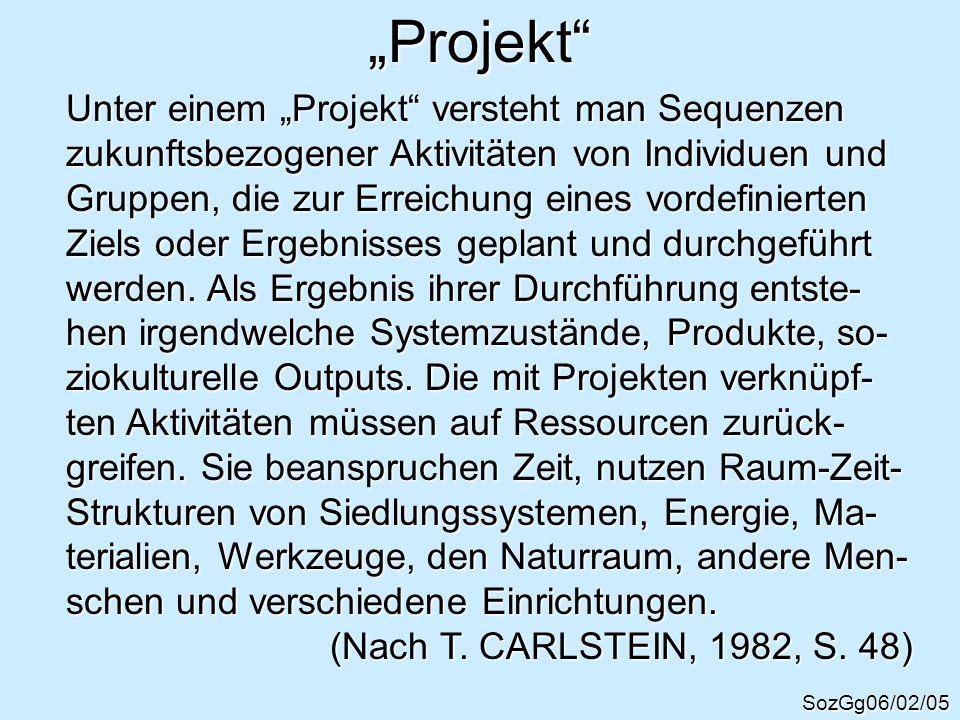 """""""Projekt Unter einem """"Projekt versteht man Sequenzen"""