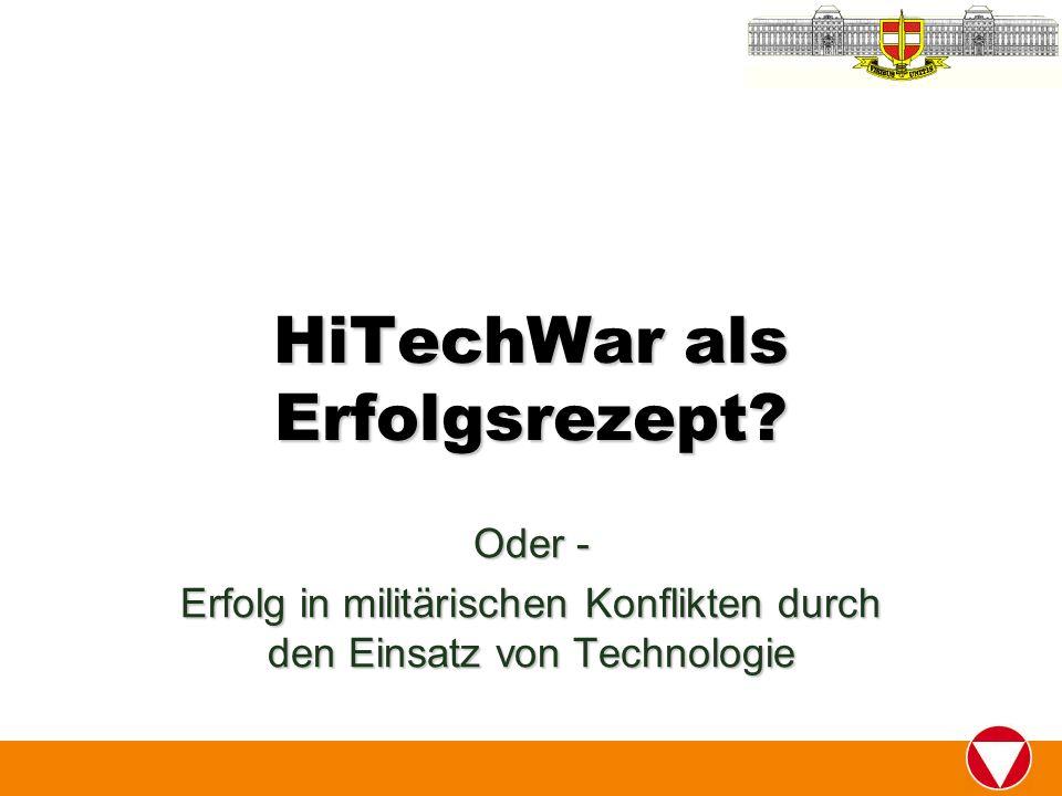 HiTechWar als Erfolgsrezept