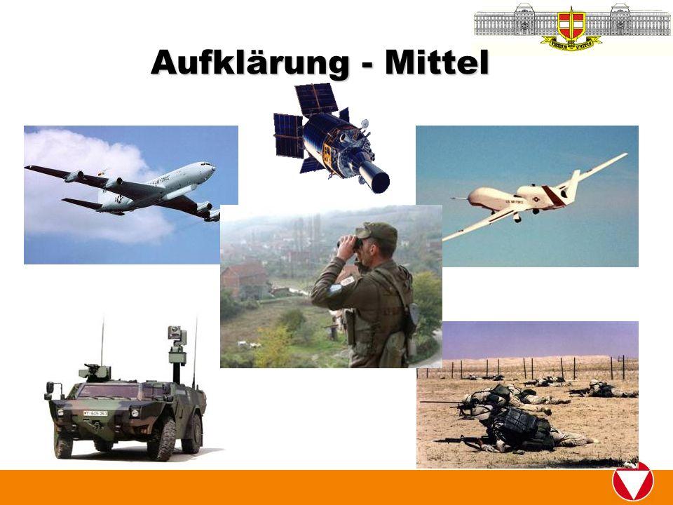 Aufklärung - Mittel Boots on the ground gefährden eigene Soldaten und ist teuer.
