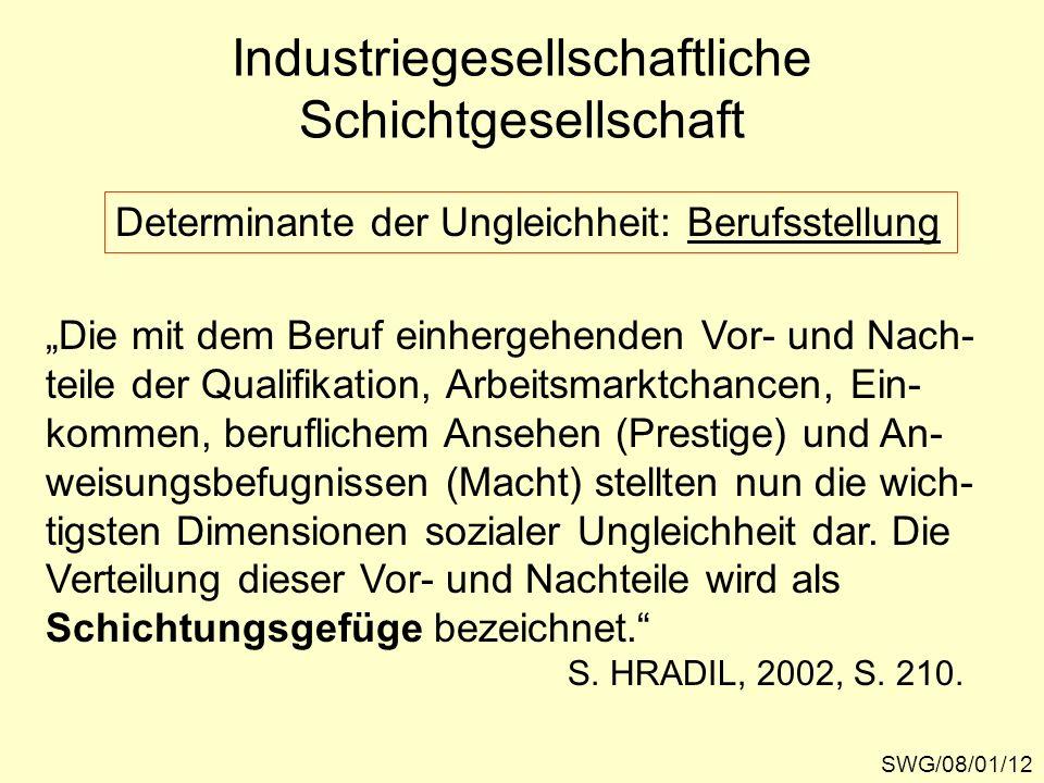 Industriegesellschaftliche Schichtgesellschaft