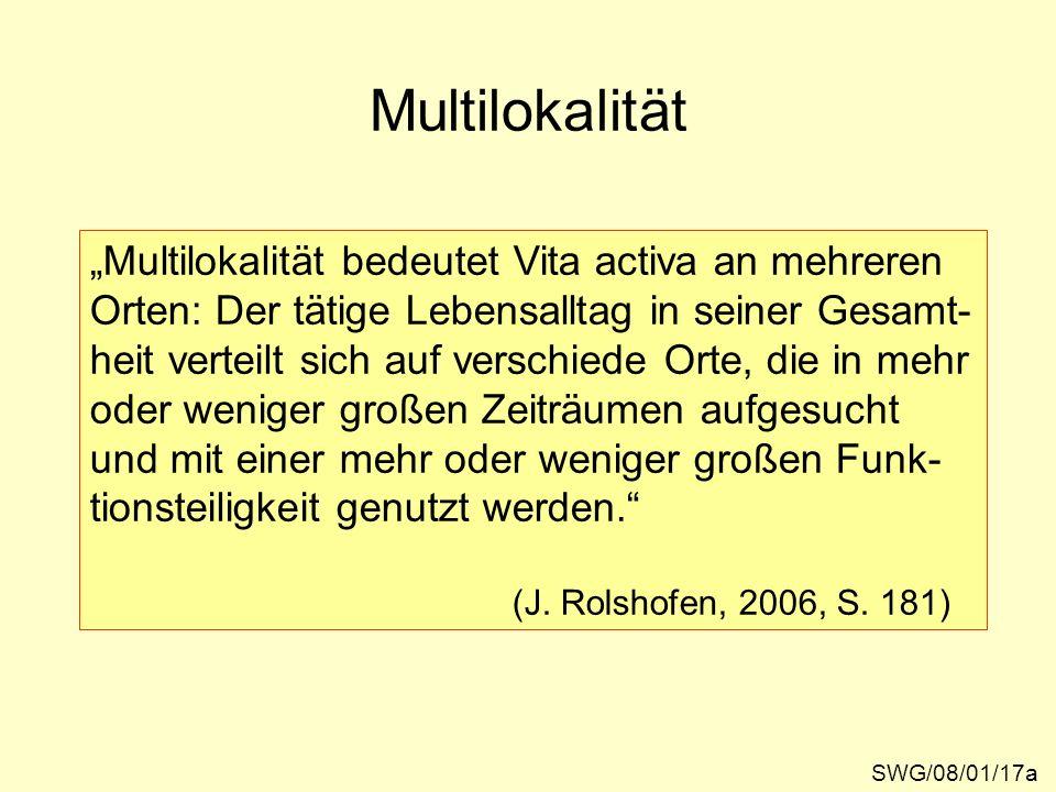 """Multilokalität """"Multilokalität bedeutet Vita activa an mehreren"""