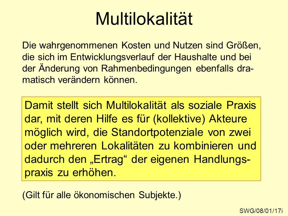 Multilokalität Damit stellt sich Multilokalität als soziale Praxis