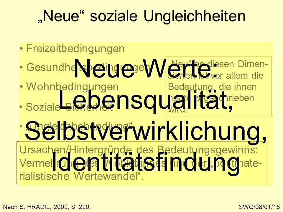 """""""Neue soziale Ungleichheiten"""