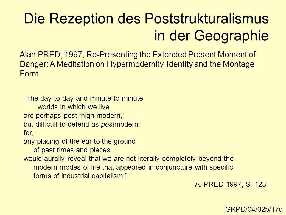 Die Rezeption des Poststrukturalismus in der Geographie