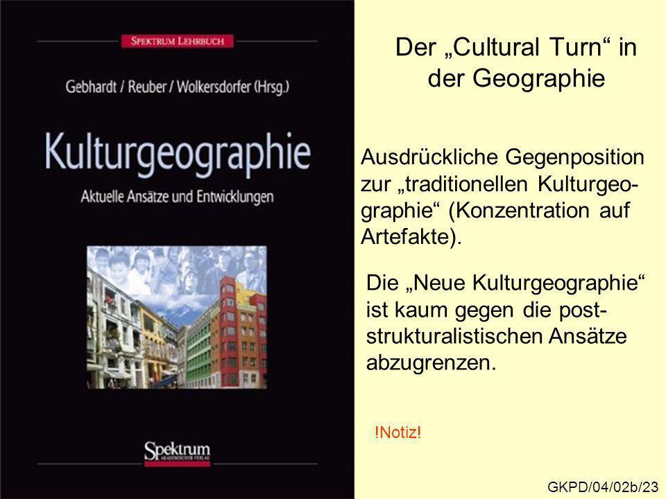 """Der """"Cultural Turn in der Geographie"""