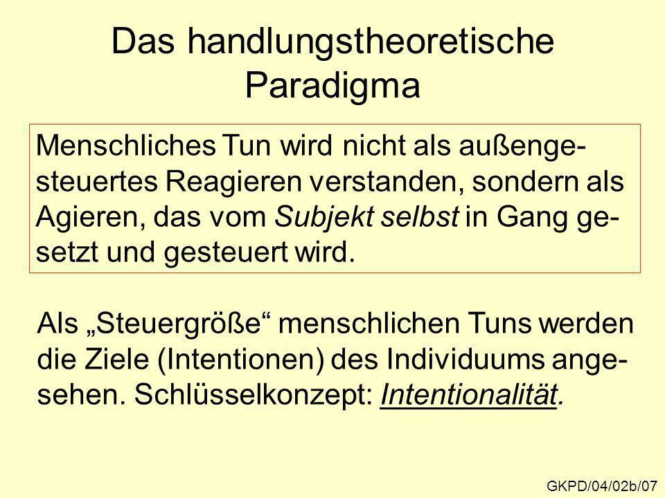 Das handlungstheoretische Paradigma