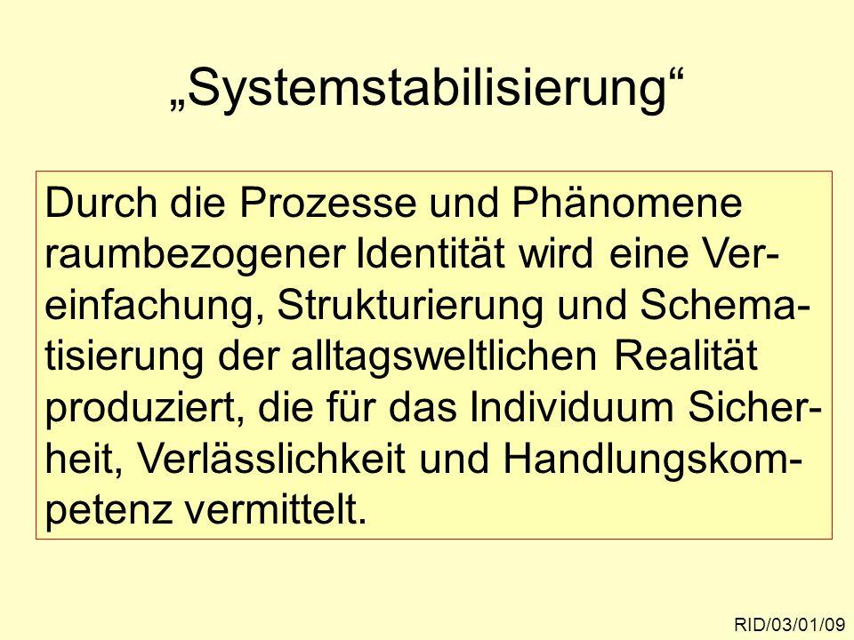 """""""Systemstabilisierung"""