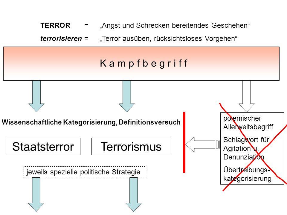 Staatsterror Terrorismus K a m p f b e g r i f f