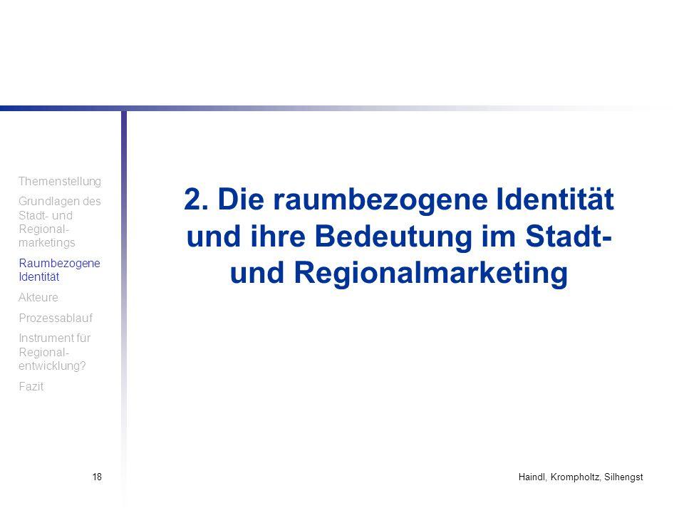 Themenstellung Grundlagen des Stadt- und Regional-marketings. Raumbezogene Identität. Akteure. Prozessablauf.