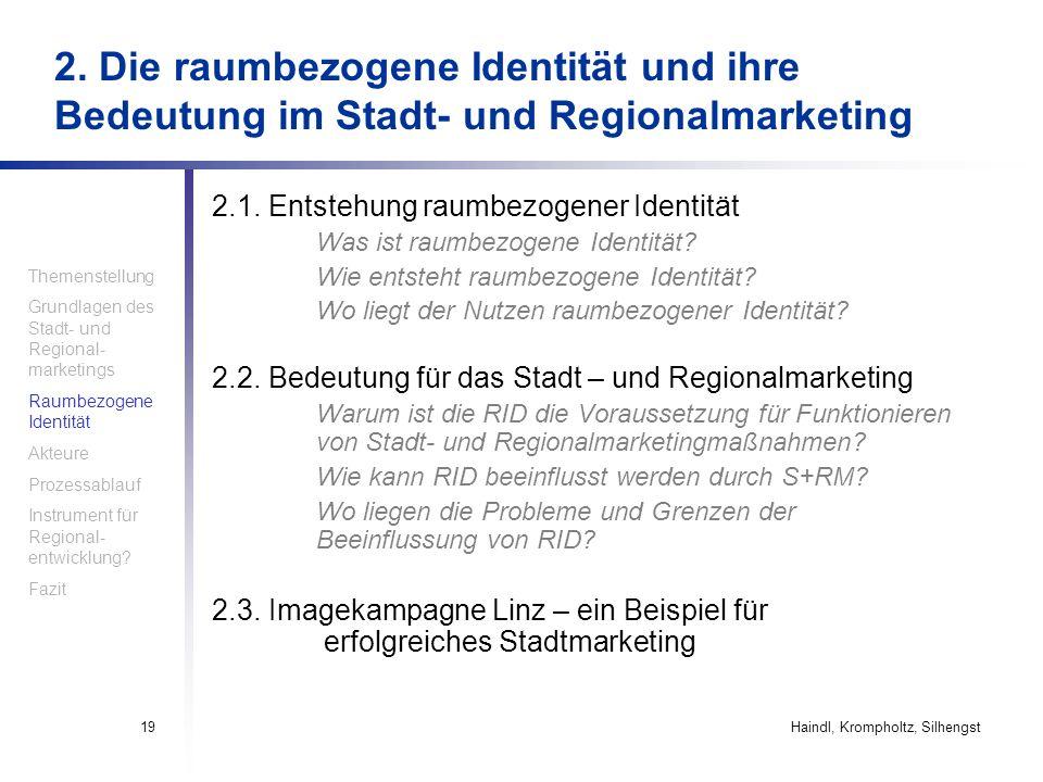 2. Die raumbezogene Identität und ihre Bedeutung im Stadt- und Regionalmarketing