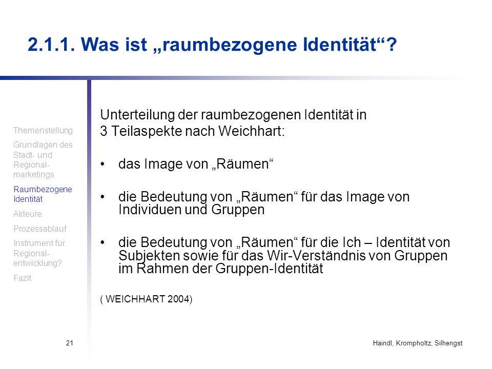 """2.1.1. Was ist """"raumbezogene Identität"""