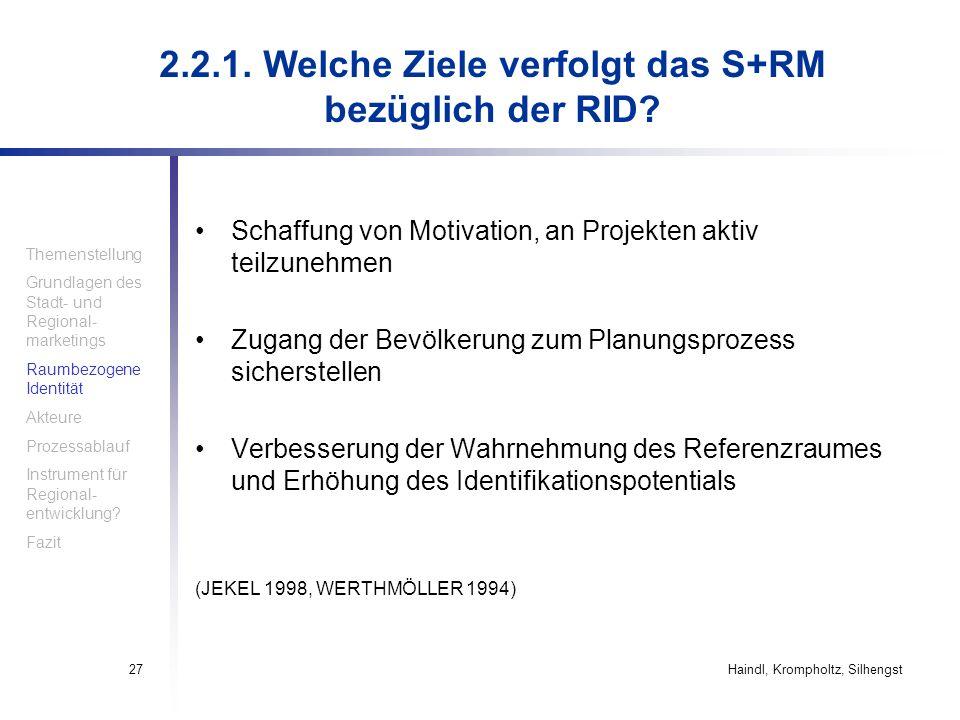 2.2.1. Welche Ziele verfolgt das S+RM bezüglich der RID