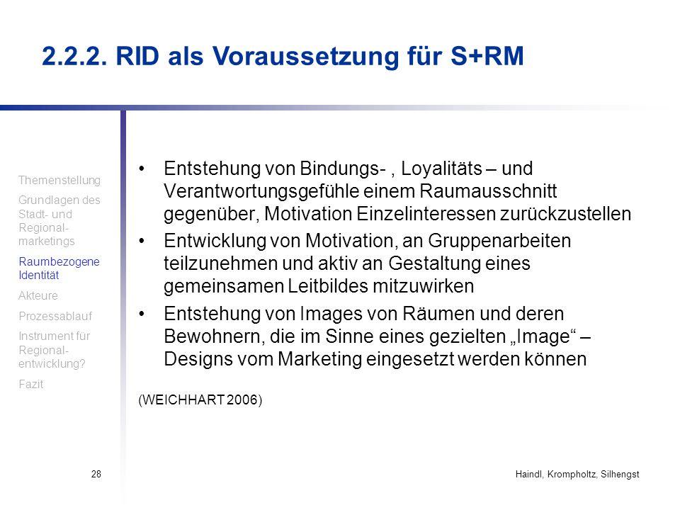 2.2.2. RID als Voraussetzung für S+RM