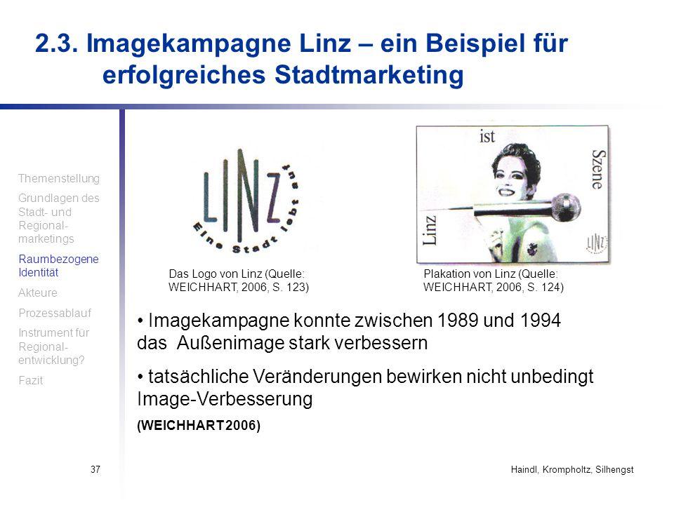 2. 3. Imagekampagne Linz – ein Beispiel für