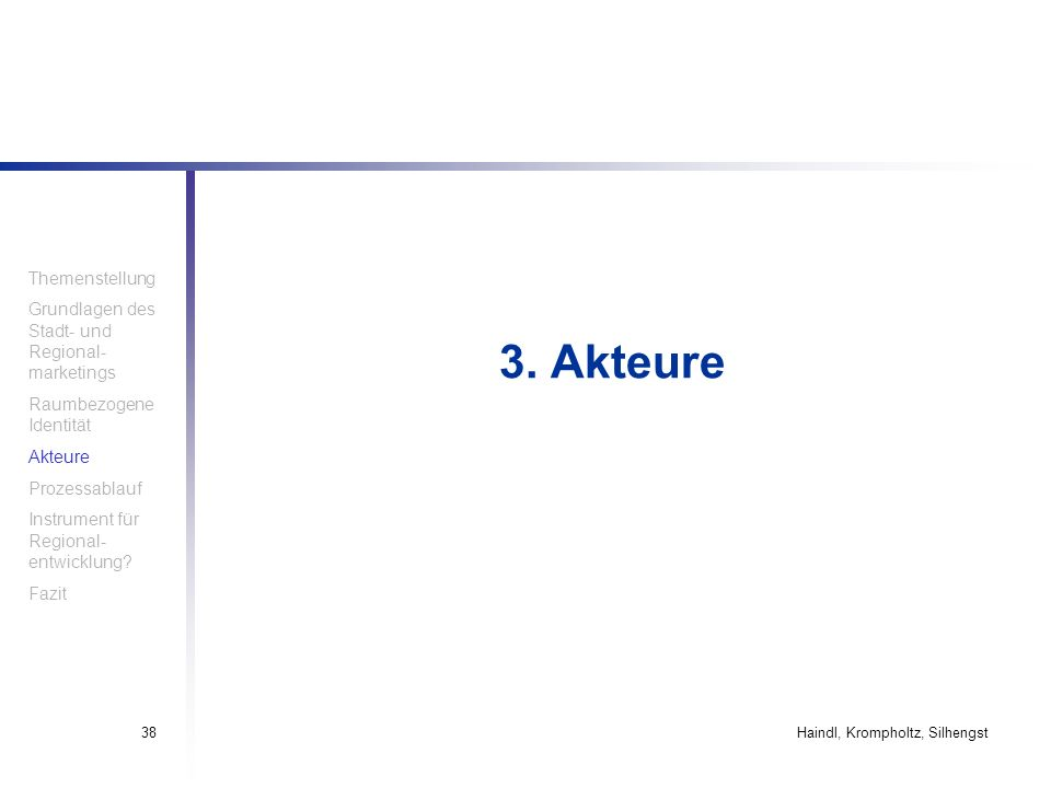 3. Akteure Themenstellung